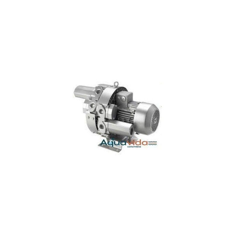 Turbina Doble Etapa 2,3HP Aire Industrial Alta Presion 54Kpa/ 7,8psi 1 Año de Garantía Blower