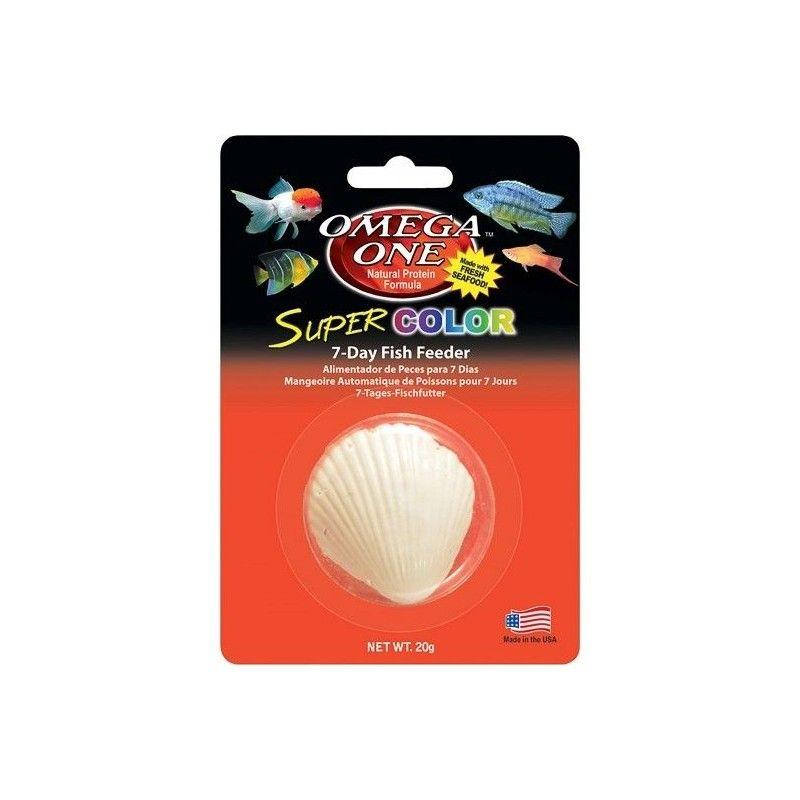 Alimento vacacional Super Color Fish Feeder Omega One 7dias 20 gramos