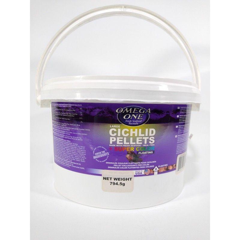 Cichlid Pellets Large 794.5gr Omega One Para Peces Ciclidos