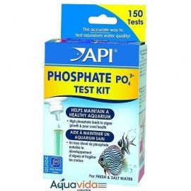 TEST FOSFATOS PHOSPHATE TEST KIT (150 TEST) API PARA ACUARIOS Y ESTANQUES