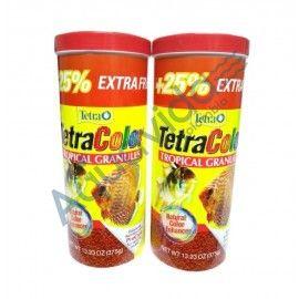 2 TARROS TETRA COLOR GRANULO 300+75GR EDICION ESPECIAL 375GR LIMITADA!